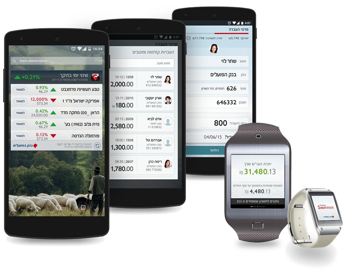 UI Design for Bank Hapoalim apps and widgets