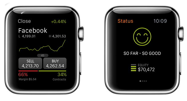 An Apple Watch Trading app