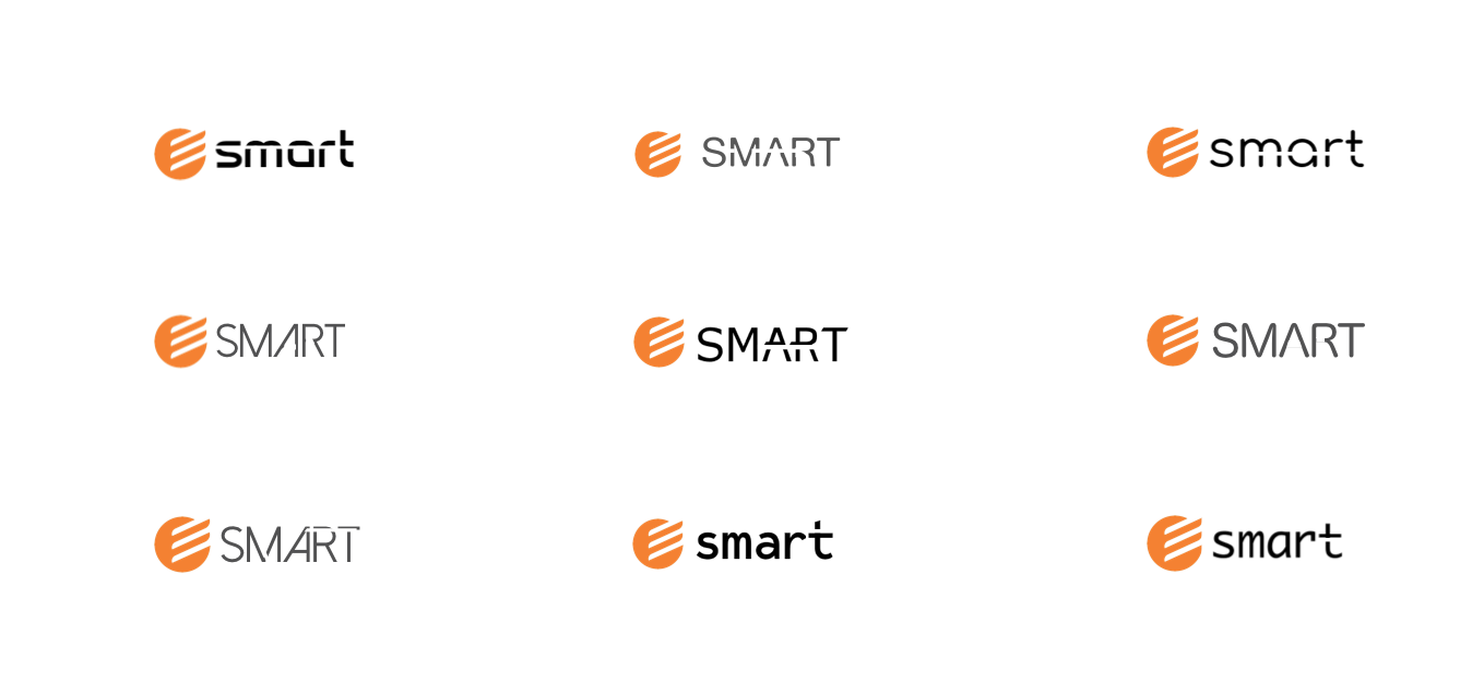 Electra Smart's logo design sketches